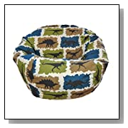 Dinosaurs Pattern Blue Kid Bean Bag Chair