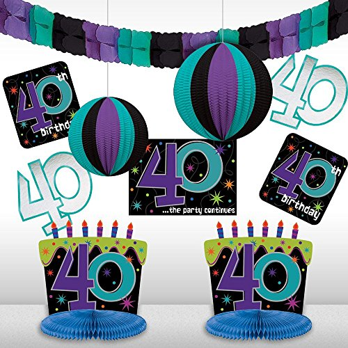 40th birthday party supplies decoration ideas for 40th birthday decoration packs