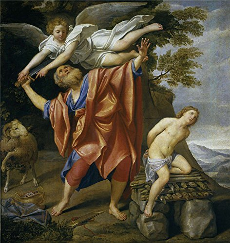 Oil Painting 'Domenichino El Sacrificio De Isaac 1627 28', 24 x 25 inch / 61 x 65 cm , on High Definition HD canvas prints is for Gifts And Foyer, Hallway And Powder Room Decoration, home (Canopy Protection Plan Console compare prices)