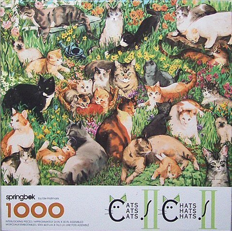 Springbok 1000 Piece Puzzle - Cats Cats Cats! II - 1