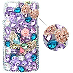 Spritech(TM) Bling Rhinestone Butterfly Iphone6 plus Case Luxury Full Diamond Design 3D Bling Iphone 6s plus Case Cover Skin
