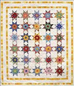 Free Star Flower Quilt Patterns : Amazon.com: Star Flowers Quilt Pattern by Alex Anderson: Arts, Crafts & Sewing