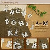 アルミアルファベットキーホルダー【A〜M】