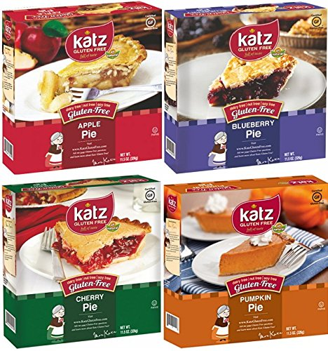 Katz Gluten Free Pie Variety Pack, 1 Apple Pie, 1 Blueberry Pie, 1 Cherry Pie, 1 Pumpkin Pie