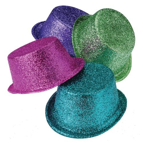 US Toy - New Years Glitter Top Hat - One size
