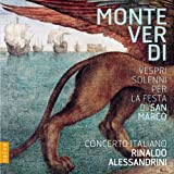Monteverdi Vespers for the feast of St. Mark - vespri solenni per la festa di san marco from Vespers (1610), selva morale (1640) Bonus DVD: The Human and the Divine - Alessandrini conducts Monteverdi. A film by Claudi Rufa Concerto Italiano