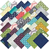 Moda SIMPLY STYLE Precut 5-inch Charm Pack Cotton Fabric Quilting Squares Assortment V and Co 10810PP
