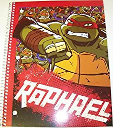 Staples Wide Ruled Spiral Notebook TMNT Raphael (8 x 10.5; 70 Sheets, 140 Pages)