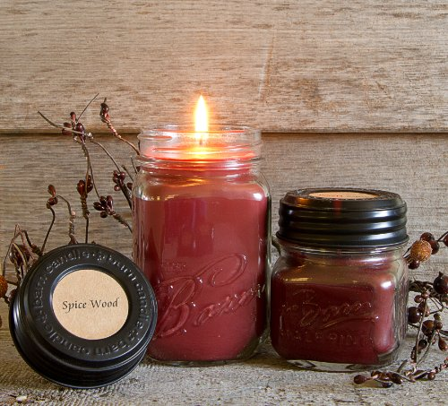 The Barn Candle Company Eco Friendly, Hand Poured, Soy Blend Wax Spice Wood 8 Oz. Candle