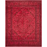 Safavieh Adirondack Collection ADR108F Red and Black Area Rug, 8 feet by 10 feet (8' x 10')