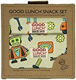 Sugarbooger Set of 3 Good Lunch Snack Sack, Retro Robot