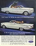 Voice venu le temps de decouvrir Ford Comet S 22 convertible ad 1963