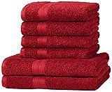AmazonBasics Handtuch-Set, ausbleichsicher, 2 Badetücher...