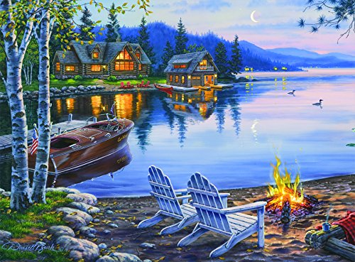 Buffalo Games Darrell Bush: Lake Reflection - 1000 Piece Jigsaw Puzzle by Buffalo Games (Nature Puzzle 1000 compare prices)