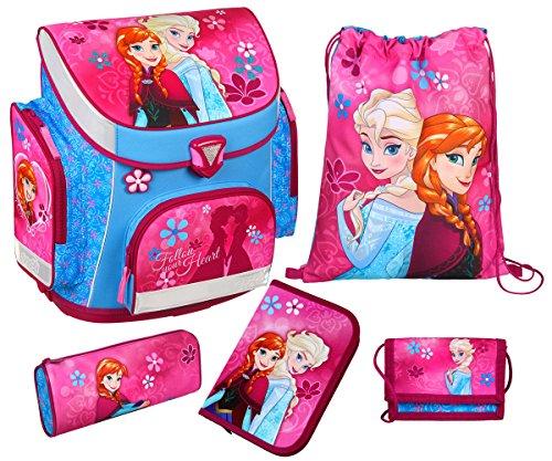 Frozen 5-Piece Set Borse Scuola Anna & Elsa