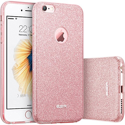 iPhone 6S Case,iPhone 6 Case,ESR® [Thin Fit] iPhone 6/6s Glitter Bling Protective Case Cover for 4.7 inches iPhone 6/6s (Rose Gold)