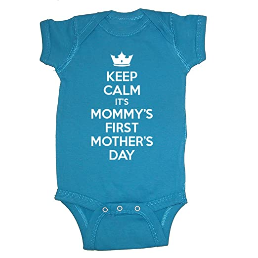 We Match! Keep Calm It's Mommy's First Mother's Day Baby Bodysuit