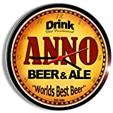 ANNO beer and ale cerveza wall clock