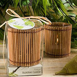 Bamboo Wood Candle Wedding Favors, 120