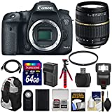 Canon EOS 7D Mark II GPS Digital SLR Camera Body with 18-200mm XR Lens + 64GB Card + Battery & Charger + Backpack + Flash + Tripod + Kit
