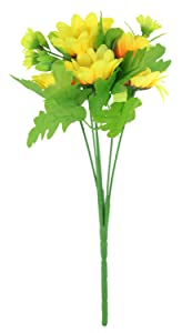 niceeshop(TM) Ramos de Flores de Girasol Lindo de Artificial para la Decoración del  Oficina, Amarillo y Verde   Más información y revisión del cliente