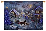 "Nicky Boehme ""Merry Christmas"" Fiber Optic Wall Hanging Tapestry, 36x26 Inches"