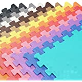 We Sell Mats - 2'x2' Foam Interlocking Anti-fatigue Exercise & Fitness Gym Soft Yoga Trade Show Play Room Basement Square Floor Tiles Borders Included - 13 Colors to Choose From