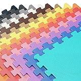 "48 Square Feet ( 12 tiles + borders) 'We Sell Mats' Black 2' x 2' x 3/8"" Anti-Fatigue Interlocking EVA Foam Exercise Gym Flooring"