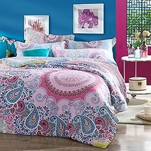 Ropa De Cama Paisley Bedding Colorful Duvet Cover Bedding Set Queen