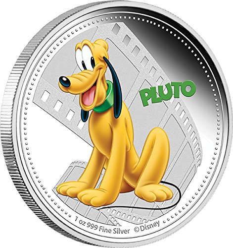 2014 Nu Disney Pluto Mickey And Friends Disney 1 Oz Silver Proof Coin 2$ Niue 2014 Dollar Perfect Uncirculated