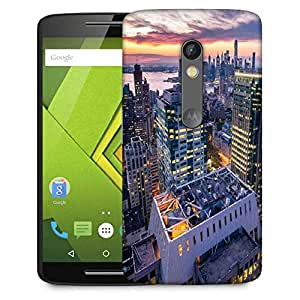 Snoogg Colorful Building Designer Protective Phone Back Case Cover For Moto G 3rd Generation