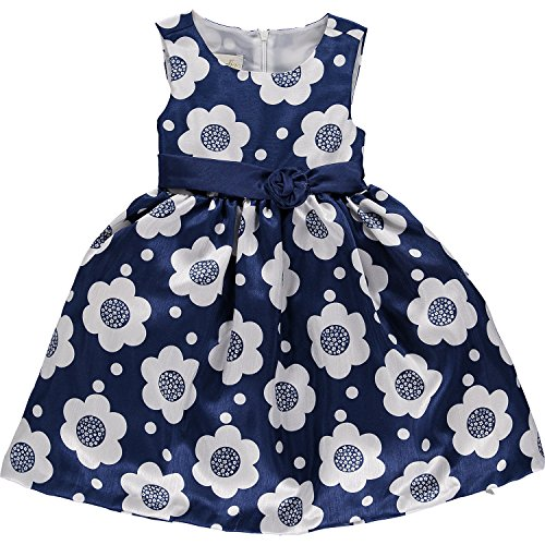 Girls Cinderella Blue & White Flower Print Dress Junior