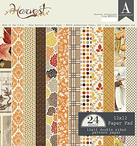 Authentique's Harvest 12x12 Paper Pad
