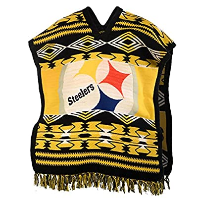 NFL Pittsburgh Steelers Unisex Poncho, Black