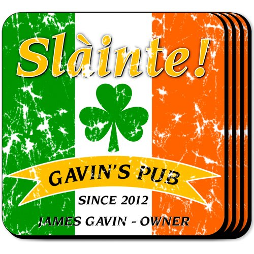 Personalized Pride of the Irish Coaster Set