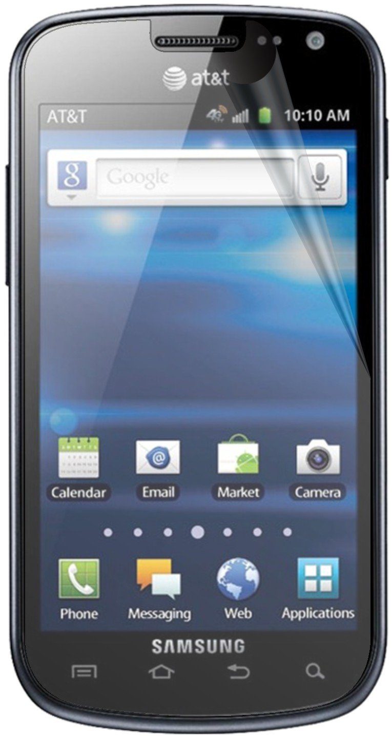 New Samsung Galaxy Exhilarate SGH I577 4g Android 2.3 Faster 1.2 Ghz Processor 4gb Internal Memory Wifi GPS Bluetooth At&t Smartphone Color : Black