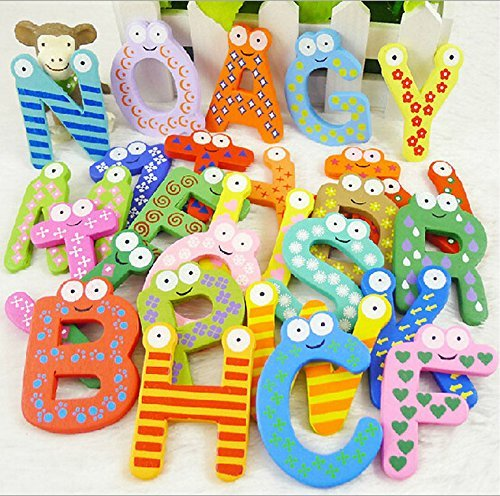 Shalleen Baby toys 26pcs Letters Kids Wooden Alphabet Fridge Magnet Child Educational Toy (Colored Fridge compare prices)