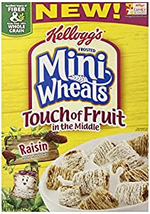 Frosted Mini Wheat's Touch of Fruit Raisin Cereal, 15 Ounce