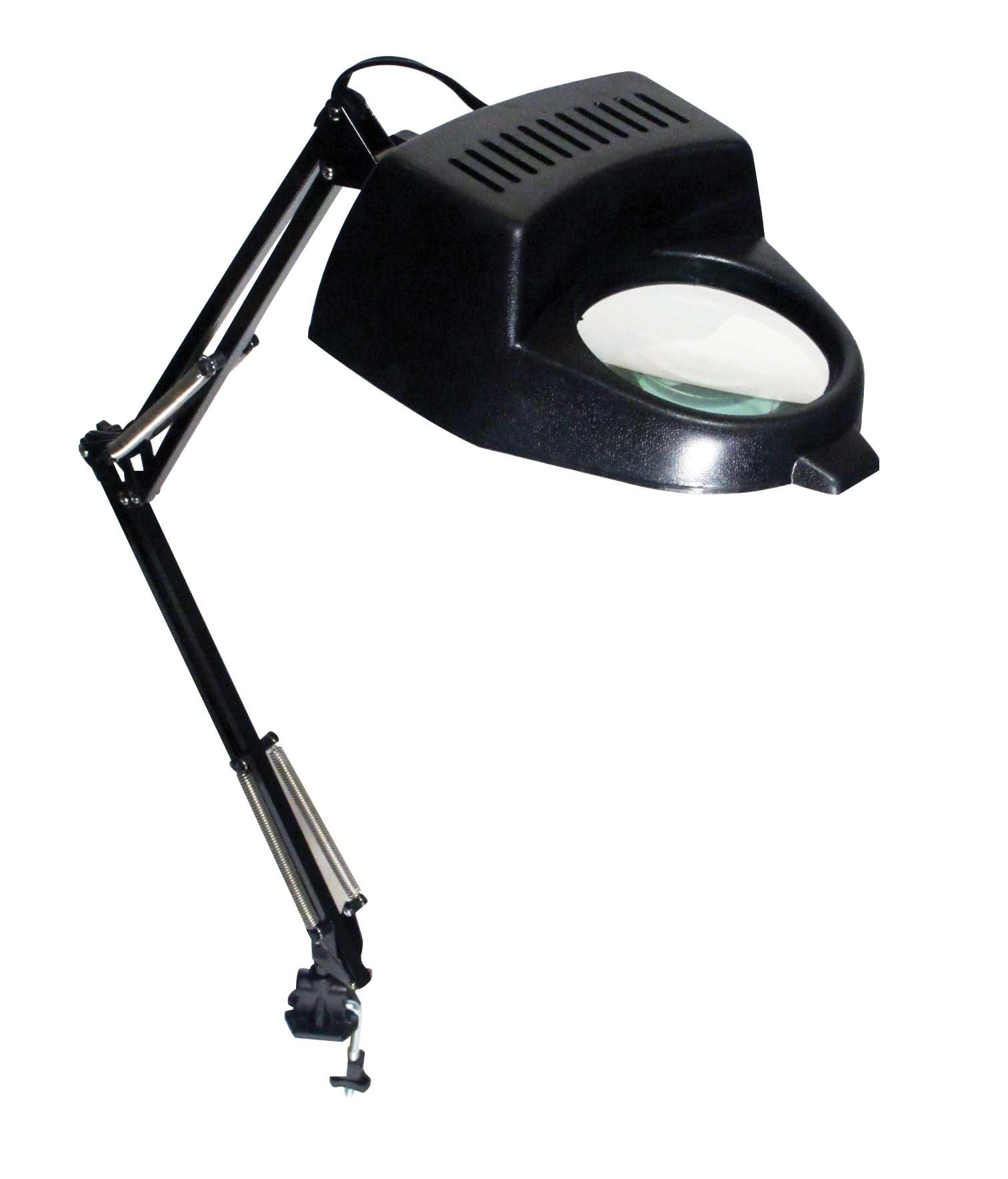 new swing arm jeweler crafting clamp on desk lamp illuminated magnifier 0 ship. Black Bedroom Furniture Sets. Home Design Ideas