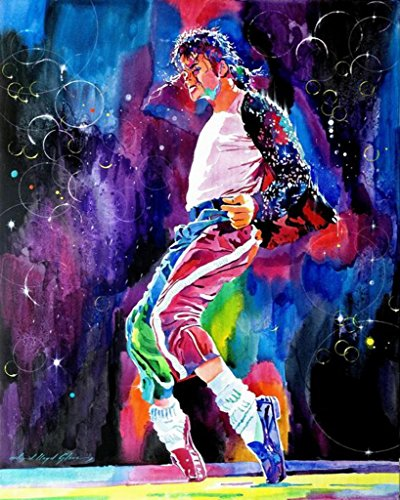[Canvas Giclee Print Painting Michael Jackson Classic Dance, Modern Home Decoration Wall Art,Stretches and Framed, Ready to] (Michael Jackson Decorations)