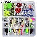 Generic Set 2 : 101PCS Fishing Lures Hooks Set With Box( Sets 2 ),35Pcs Soft Worm Lure Carp Set + 10 Lead Head...