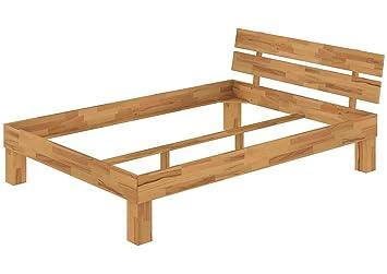 Futonbett Französisches Bett Doppelbett 140x200 Buche-Bettgestell massiv ohne Zubehör 60.86-14 oR