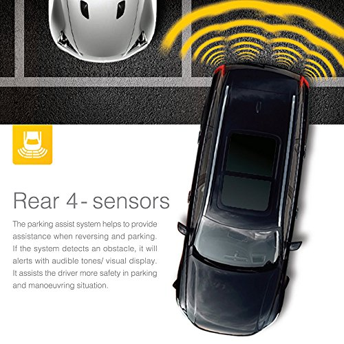 steelmate pd800 kit radar de recul 8 capteurs noirs auto. Black Bedroom Furniture Sets. Home Design Ideas