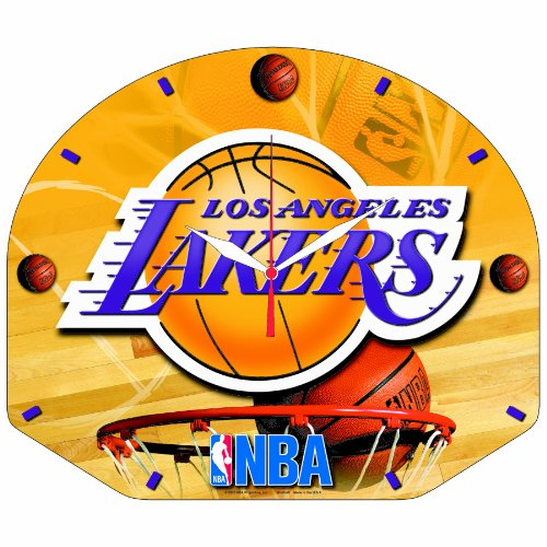 NBA Los Angeles Lakers High Definition Clock Backboard Shaped