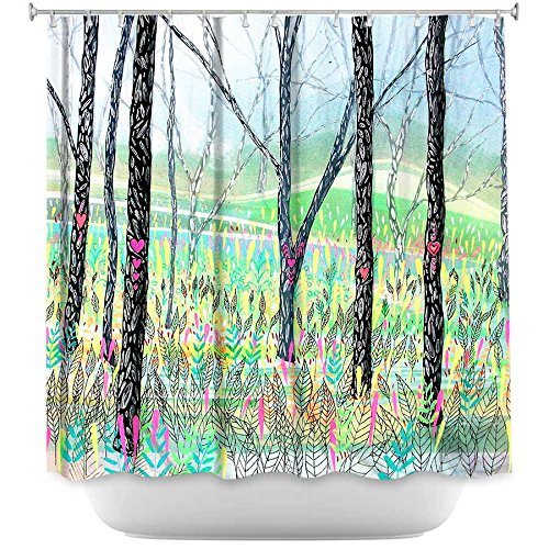 Love Notes outdoor nature scene shower  curtain