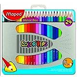 Maped Color Pencils - Metal Box Of 24 Pcs