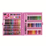 Art Supplies for Kids,150 Pieces of Children's Painting Crayons, Watercolor pens, Color Lead-Aluminium Boxes, Art pigments, Stationery Sets, Gifts for Students,Pink (Color: Pink)