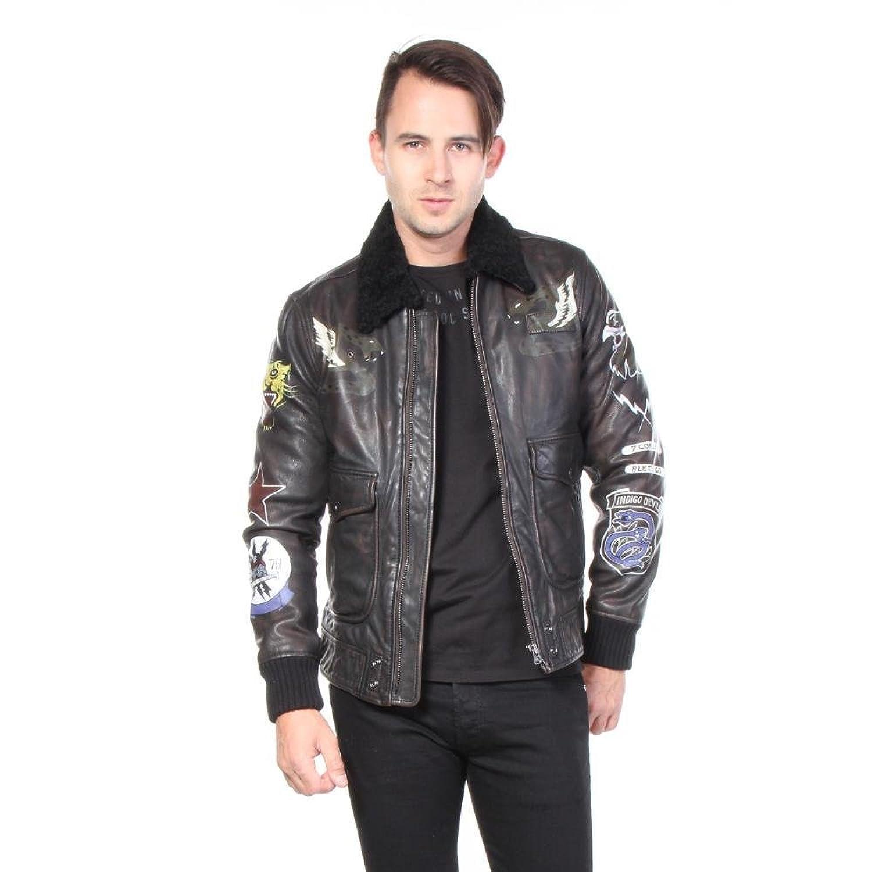 Diesel Jacken L-Kan-Paint Leder Leather Herren