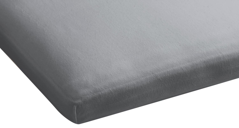 Beddinghouse Jersey mit Lycra Split-Topper-Spannbettlaken / 180/200*200/220 cm / Light Grau online kaufen
