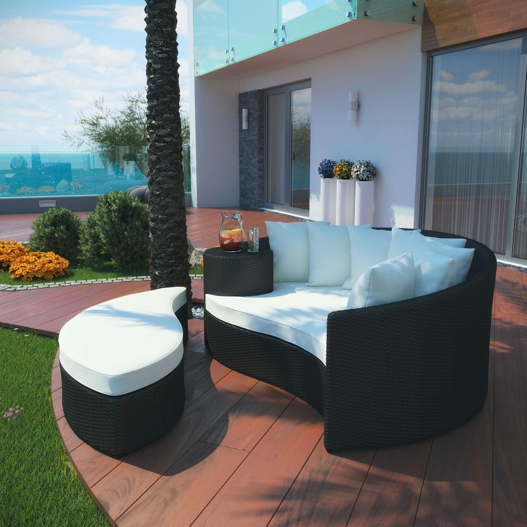 taiji outdoor patio daybed in espresso white